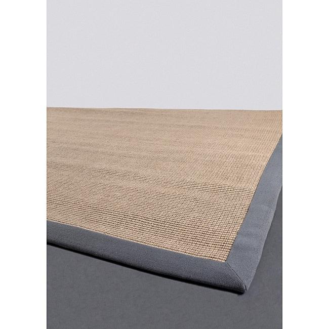 Artistu0026#39;s Loom Hand-woven Contemporary Border Natural Eco-friendly Sisal Rug (2u0026#39;6x8u0026#39;) - 11281605 ...