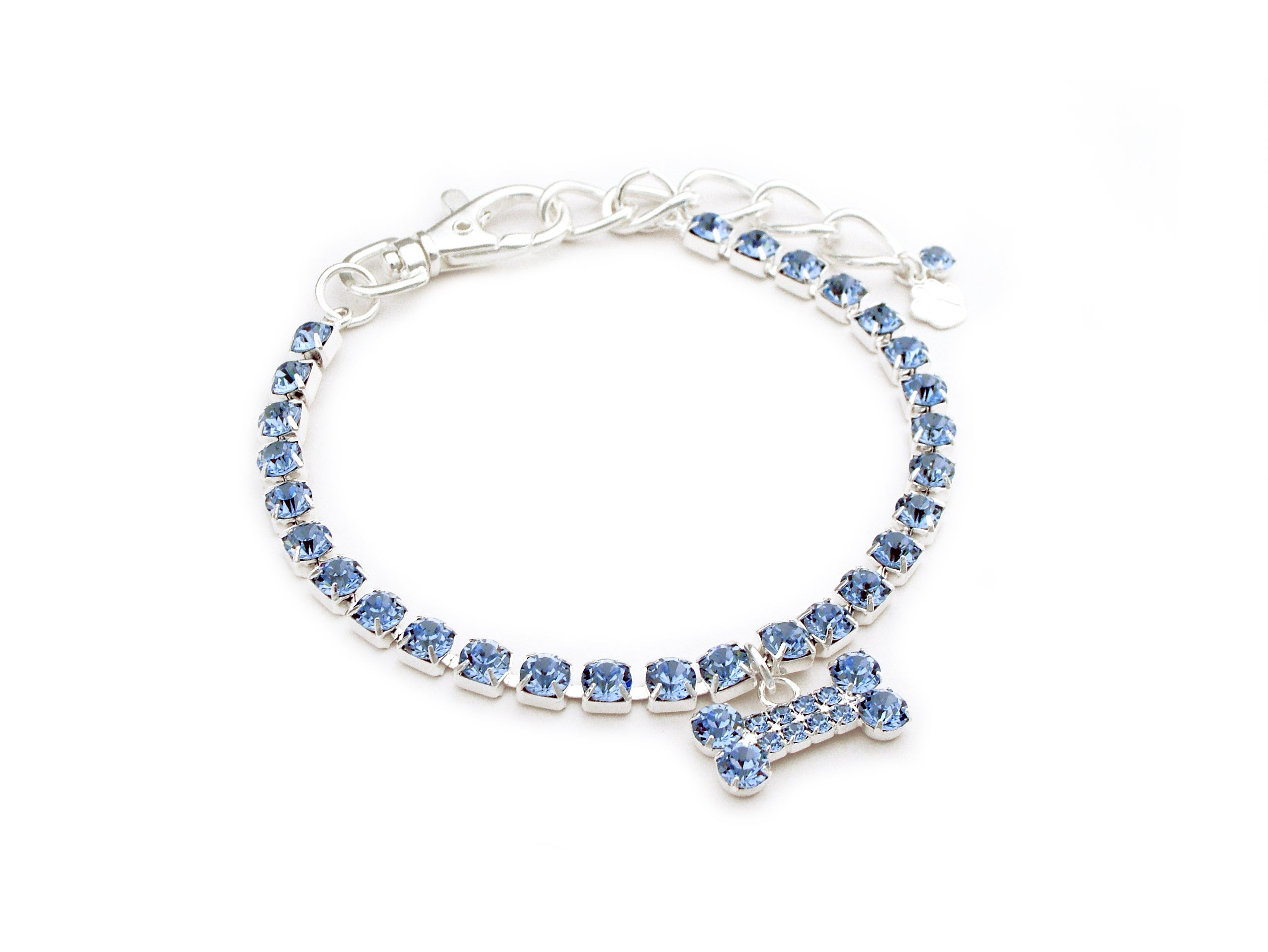 Bone Charm Austrian Crystal Collar