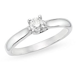 Miadora 14k Gold 1/2ct TDW Diamond Solitaire Engagement Ring (H-I, I1-I2)