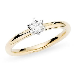 Miadora 14k Gold 1/2ct TDW Diamond Solitaire Engagement Ring (H-I, I1-2)