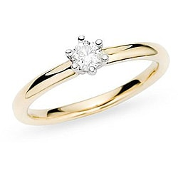 14k Gold 1/2ct TDW Diamond Solitaire Engagement Ring (H-I, I1-2)