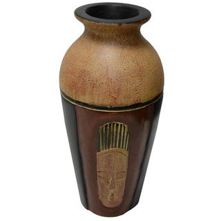 Hand-finished Fanti Wooden Vase (Ghana)