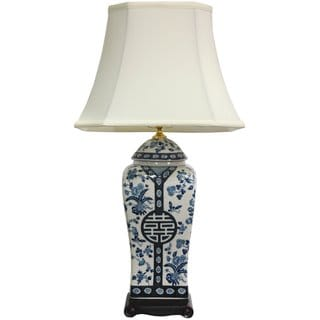 26-inch Blue and White Vase Lamp (China)
