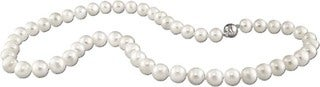 M by Miadora Sterling Silver 8-9 mm Cultured Freshwater Pearl Necklace (18 or 20 inch) with