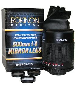 Rokinon 500 mm Mirror Lens for Canon EOS Mount