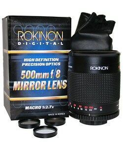Rokinon 500mm Mirror Lens for Nikon Mount