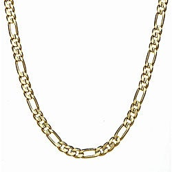 Simon Frank 14k Yellow Gold Overlay 8mm Figaro Chain (36-inch)