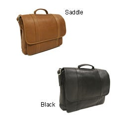 Piel Leather Flap-over Portfolio Briefcase