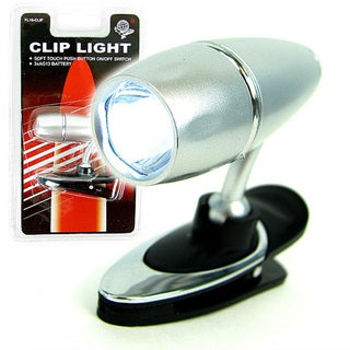 Clip-on LCD Flashlight with Pivoting Head (Set of 4)