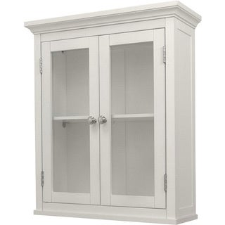 Classique White Wall Cabinet with Two Doors by Elegant Home Fashions