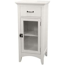 Classique White Single Door/ Single Drawer Floor Cabinet