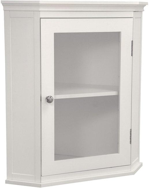 white glass door shelf kitchen bathroom linen home storage corner