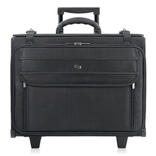 Solo 17.3-inch Black Laptop Rolling Catalog Case with Hanging File System