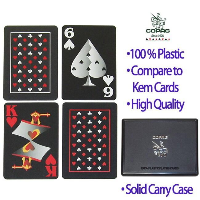 Copag Black Playing Cards (Two Decks)