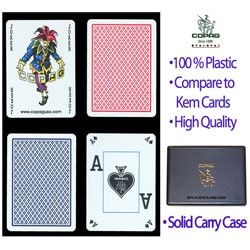 Copag Red and Blue Plastic Playing Cards (Two Decks)