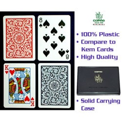 Copag Red/ Blue Paisley Playing Cards (Two Decks)