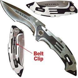 Matrix Stainless Steel Folding Pocket Knife