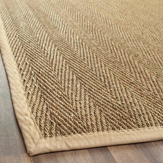 Handwoven Sisal Natural/Beige Seagrass Area Rug (6' x 9')