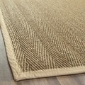 Handwoven Sisal Natural/Beige Seagrass Bordered Runner (2'6