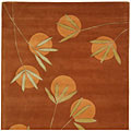 Handmade Soho Summer Rust New Zealand Wool Rug (6' Square)