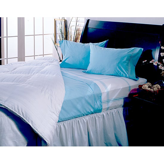 Hotel Grand Collection 330 Thread Count 4-piece Light Blue Sheet Set