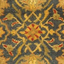 Handmade Antiquities Mahal Blue/ Beige Wool Runner (2'3 x 12')