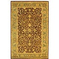 Safavieh Handmade Antiquities Mahal Brown/ Blue Wool Rug (5' x 8')