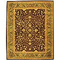 Handmade Antiquities Mahal Brown/ Blue Wool Rug (6' x 9')