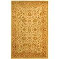 Safavieh Handmade Antiquities Kashan Ivory/ Beige Wool Rug (4' x 6')