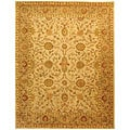 Handmade Antiquities Kashan Ivory/ Beige Wool Rug (8'3 x 11')