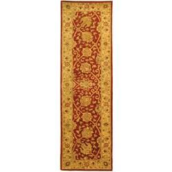 Safavieh Handmade Antiquities Mashad Rust/ Ivory Wool Runner (2'3 x 12')