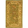 Safavieh Handmade Antiquities Mashad Sage/ Ivory Wool Rug (3' x 5')