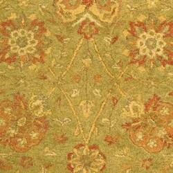 Safavieh Handmade Antiquities Mashad Sage/ Ivory Wool Rug (5' x 8')