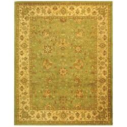 Safavieh Handmade Antiquities Mashad Sage/ Ivory Wool Rug (9'6 x 13' 6)