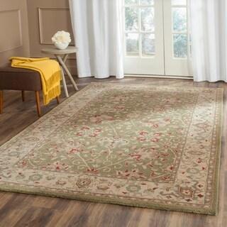 Safavieh Handmade Antiquities Mashad Sage/ Ivory Wool Rug (8'3 x 11')