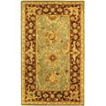 Safavieh Handmade Traditions Teal/ Brown Wool Rug (3' x 5')