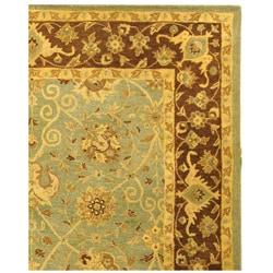 Handmade Traditions Teal/ Brown Wool Rug (8'3 x 11')