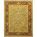 Safavieh Handmade Traditions Teal/ Brown Wool Rug (8'3 x 11')