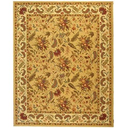 Handmade Paradise Ivory Wool Rug (7'9 x 9'9)