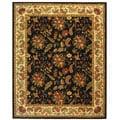 Handmade Paradise Black Wool Rug (7'9 x 9'9)