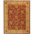 Handmade Paradise Red Wool Rug (8'9 x 11'9)