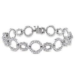 14k Gold 3 1/2ct TDW Diamond Circle Link Bracelet (G-H-I, SI)