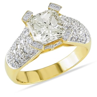 Miadora Signature Collection 18k Gold 2 5/8ct TDW Diamond Engagement Ring (K, VS2)
