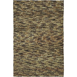 Hand-woven Earthtone Collection Wool Rug (2'6 x 8') with Free Rug Pad