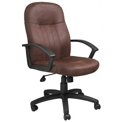 Boss Executive Bomber Brown Microfiber Chair