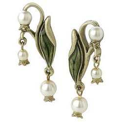 Sweet Romance Art Nouveau Lily of the Valley Earrings
