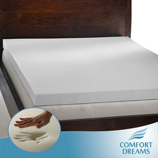 Comfort Dreams 'Mem-Cool' 4-inch Queen/ King-size Memory Foam Mattress Topper