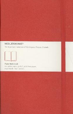 Moleskine Red Plain Notebook (Notebook / blank book)