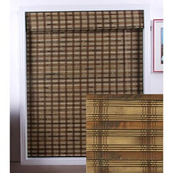 Guinea Deep Bamboo Roman Shade (27 in. x 54 in.)
