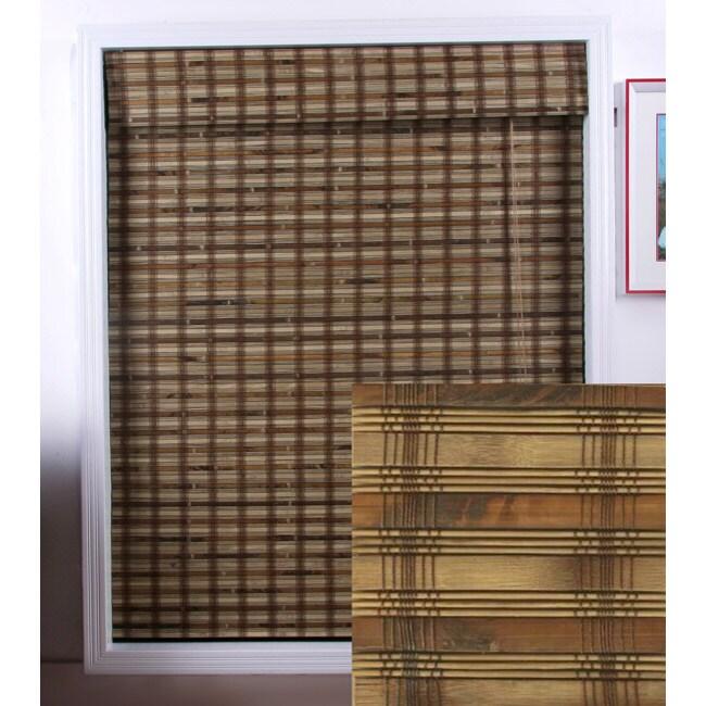 Guinea Deep Bamboo Roman Shade (27 in. x 74 in.)
